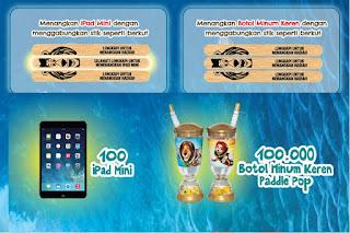 Kumpulkan Stick Paddle Pop Menangkan 100 iPad Mini dan 100 ribu botol minuman keren