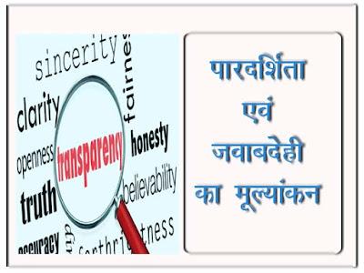 पारदर्शिता और जवाबदेही का परिचालन का मूल्यांकन  Evaluation of transparency and accountability