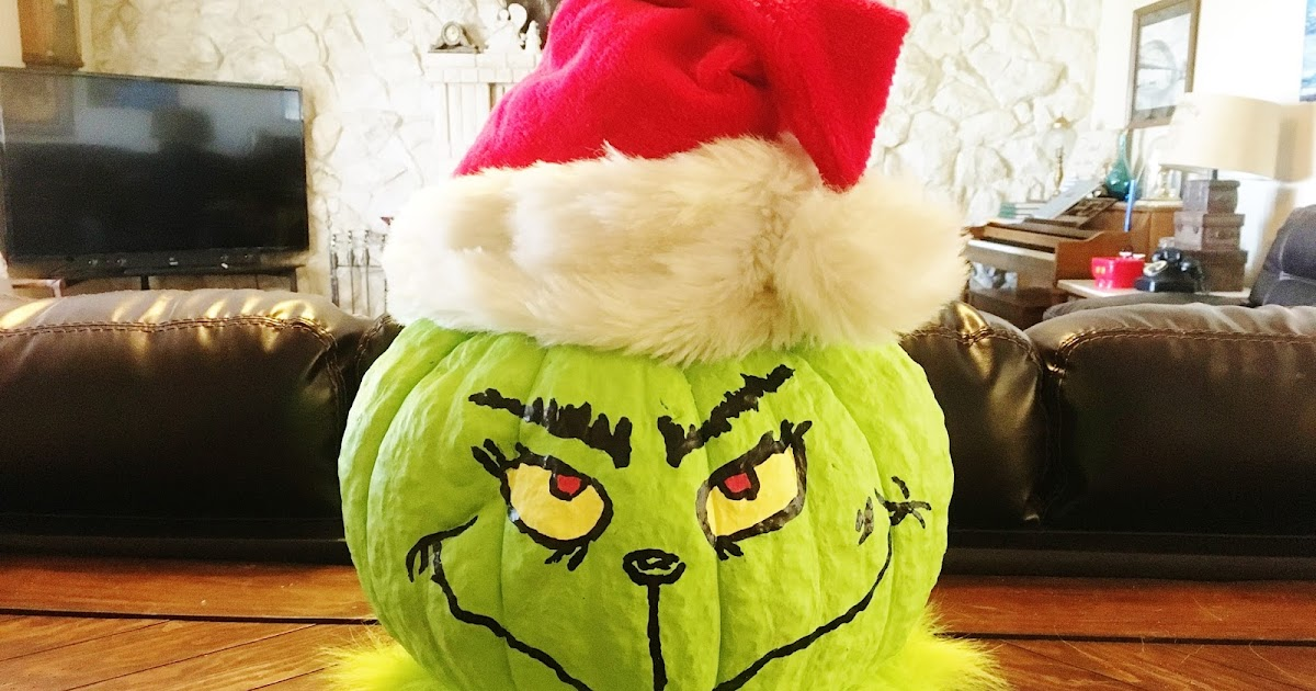HollysHome Family Life Make Your Pumpkin into a Grinch Head