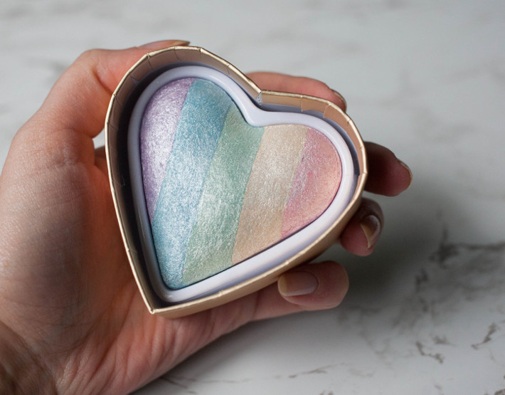 I heart makeup Unicorn Hearts higlighter review