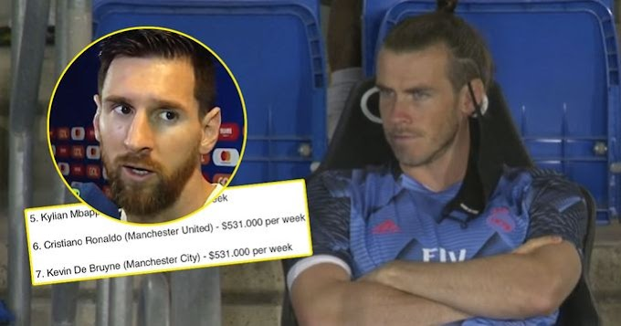 Bale 4th on list of highest-paid footballers right now