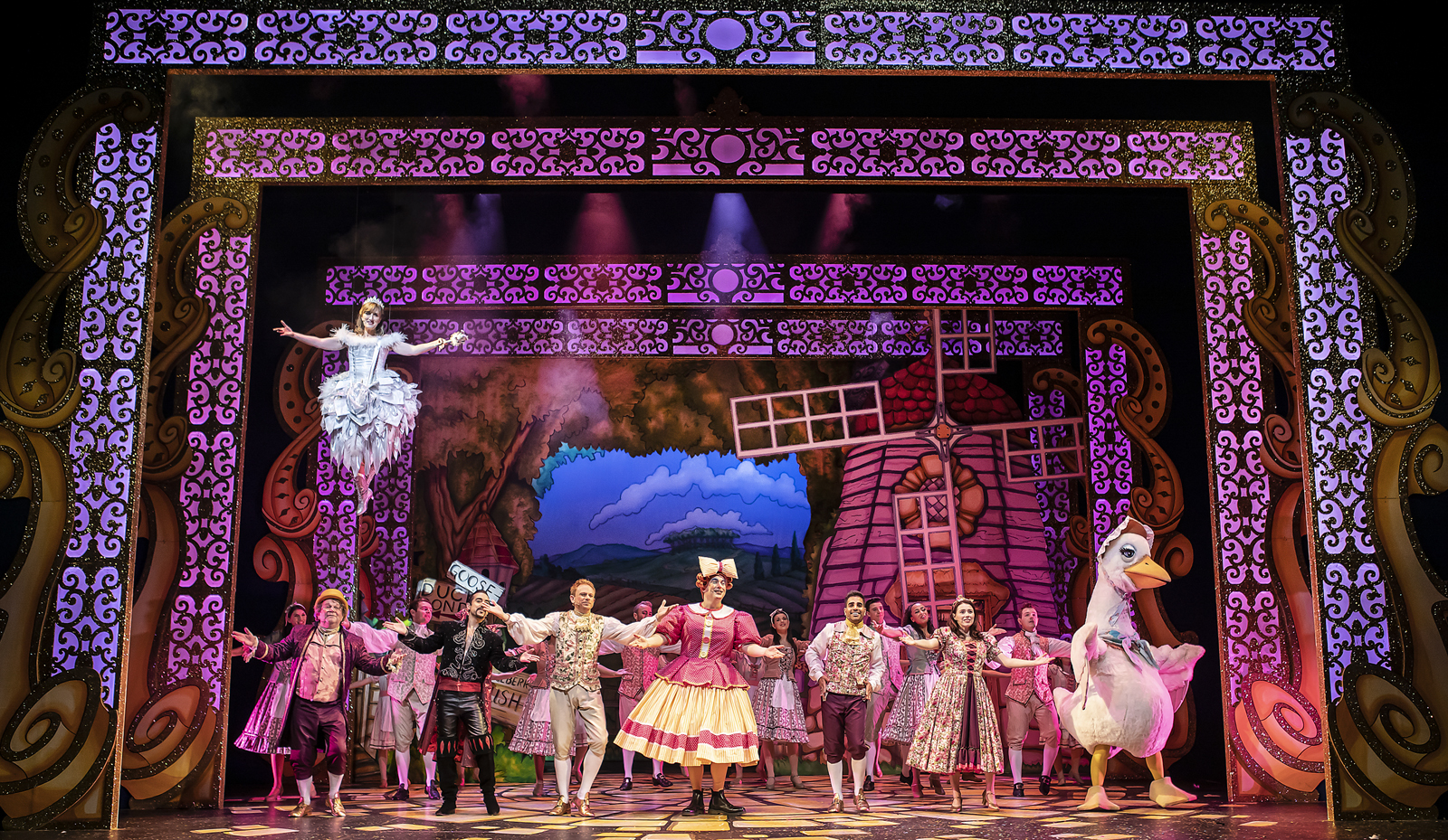 Mother Goose cast at the Marlowe Theatre, Canterbury