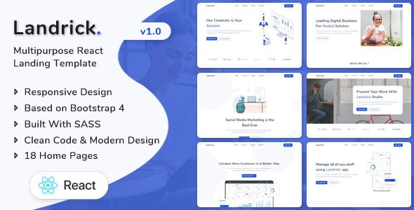 Best React Landing Page Template