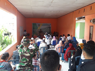 Kapolsek labakkang bersama unsur tripika kecamatan Labakkang hadiri giat Penyuluhan kegiatan Sertipikasi Pendistribusi Tanah 2021