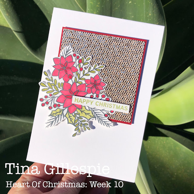 scissorspapercard, Stampin' Up!, Heart Of Christmas, Words Of Cheer, Be Dazzling SP, Stampin' Blends, Sale-A-Bration, Christmas Card