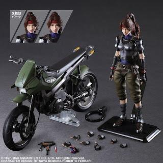 Final Fantasy VII Remake – Play Arts Kai Jessie and Bike, Rufus, Red XIII, y Jessie and Cloud Set.