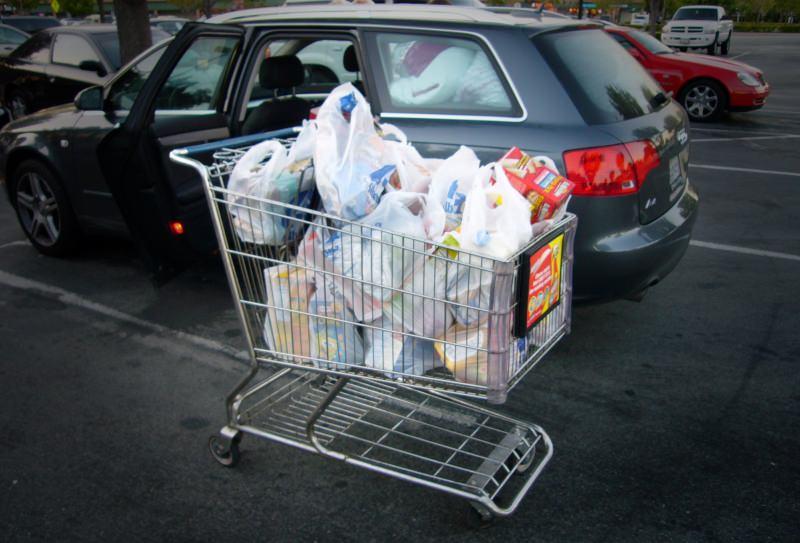 Sacos de compras de plástico