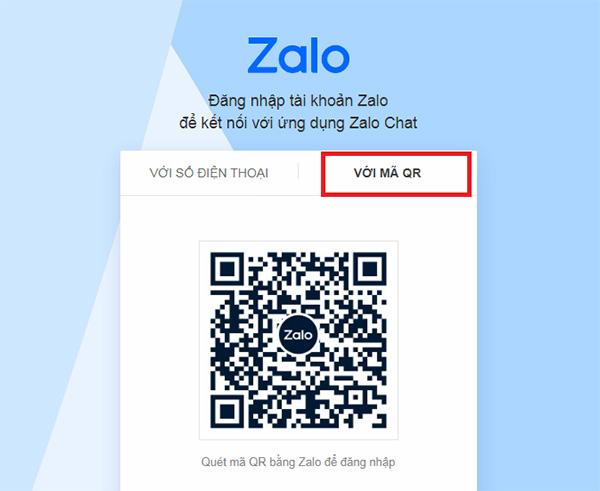 Cách 2: Đăng nhập Zalo bằng mã QR (QR CODE) b