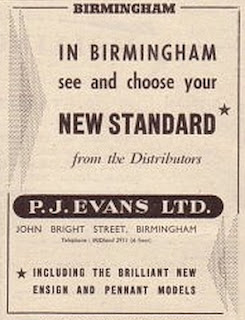 P J Evans Ltd advert from Autocar 18 Oct 1957