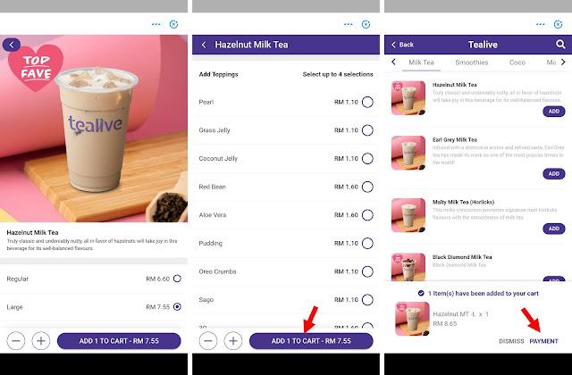 Sekarang Dah Boleh Order Tealive Guna Aplikasi Touch 'n Go eWallet Tau! Ini Caranya