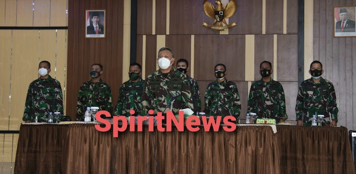 Danrem 141/Toddopuli Brigjen TNI Djashar Djamil, S.E M.M, memimpin Kegiatan Sosialisasi Vaksinasi Nasional Covid-19 Ta.2021