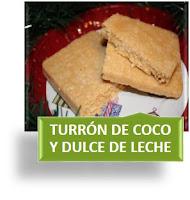 TURRÓN DE COCO Y DULCE DE LECHE