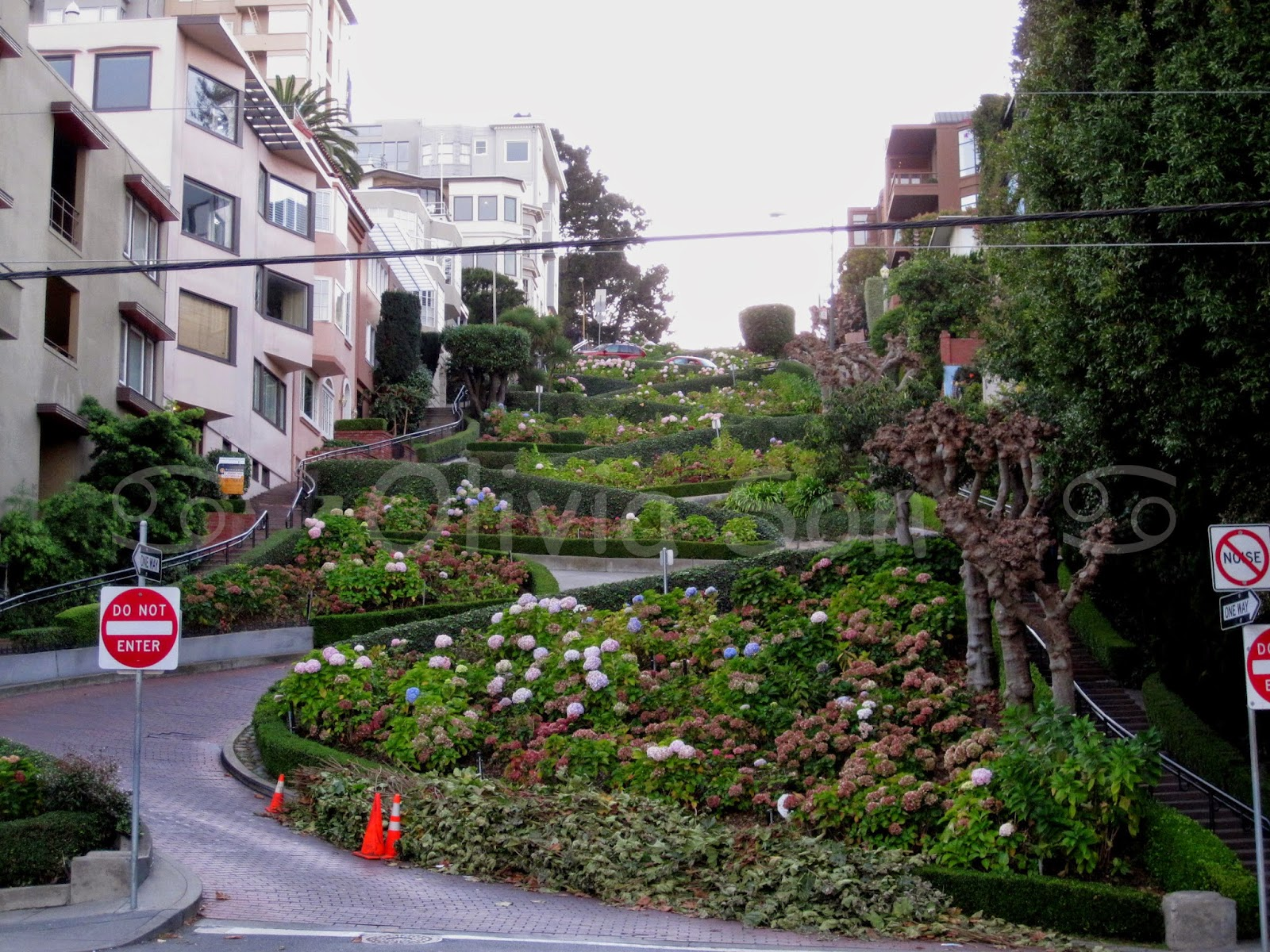 lombard street san francisco, californie, usa