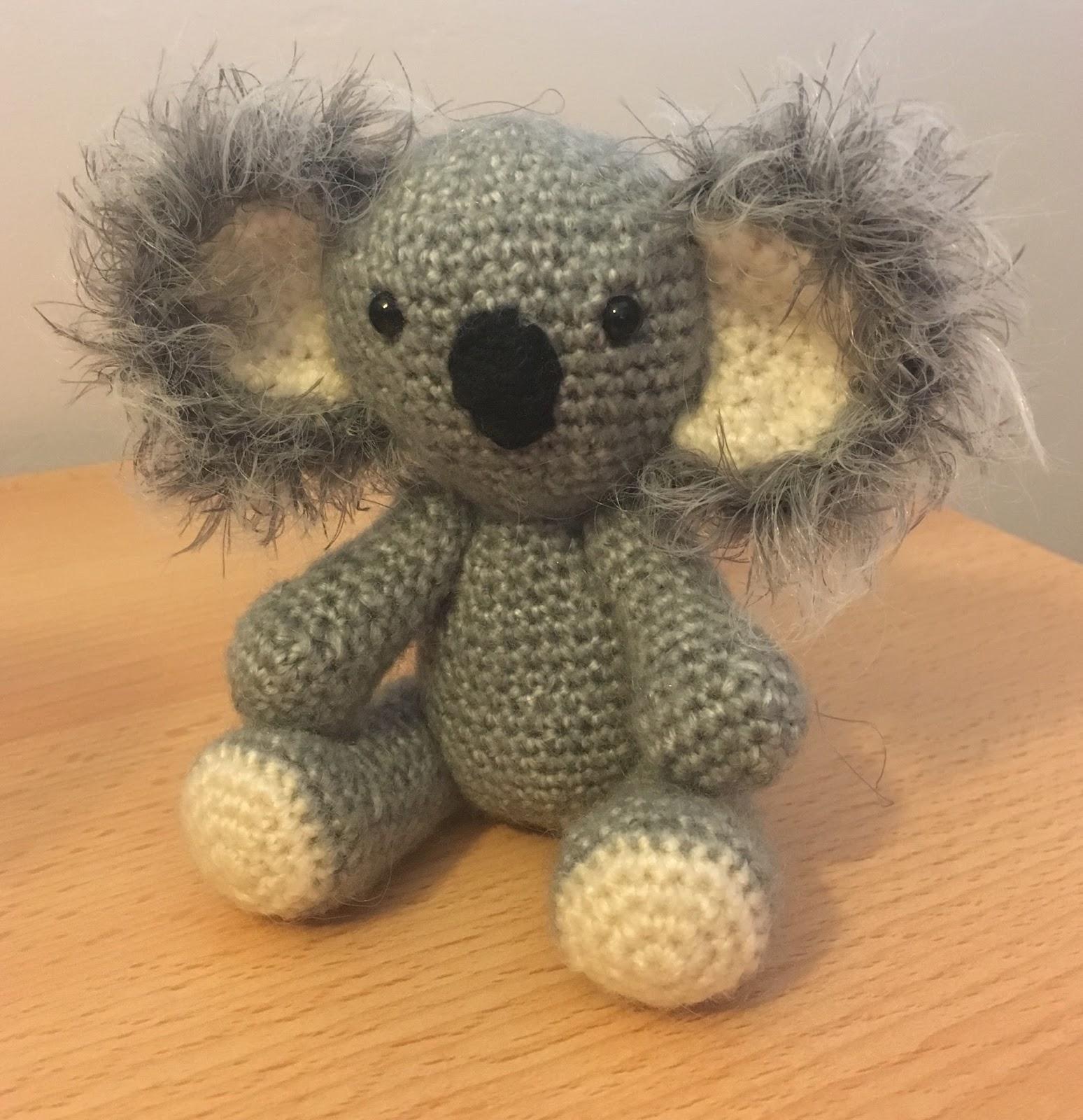 Amigurumi Koala Free Crochet Pattern | 1600x1548