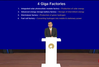 4 Giga Factories of Reliance group