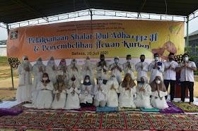 Lapas Perempuan kelas IIB Jambi Sembelih 9 Ekor Hewan qurban Usai Shalat Idul Adha Berjamaah
