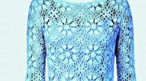 Vestido super elegante al crochet