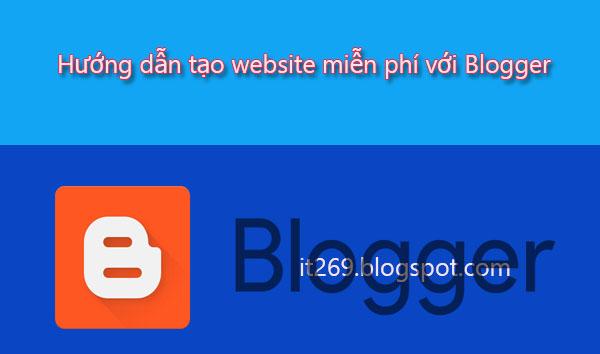tạo website bằng blogspot