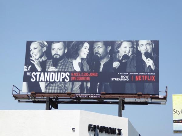 Standups series premiere Netflix billboard