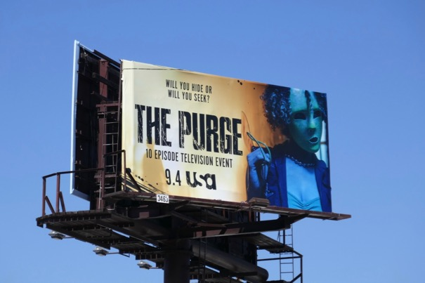 Purge TV billboard
