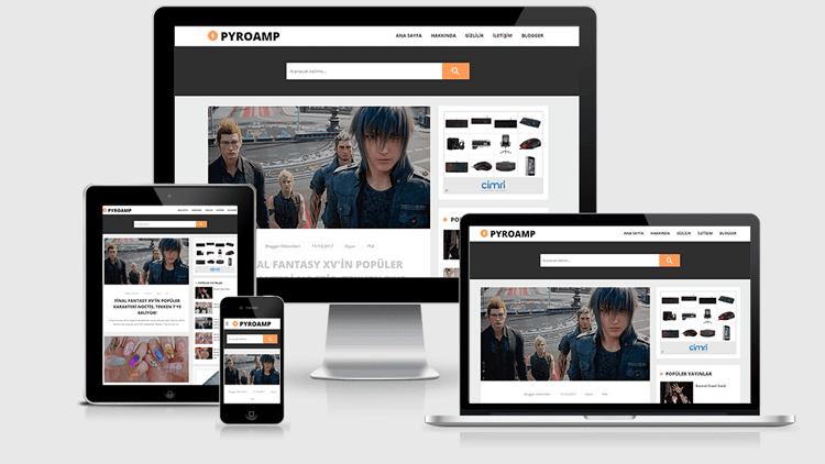 Pyro AMP Blog Teması