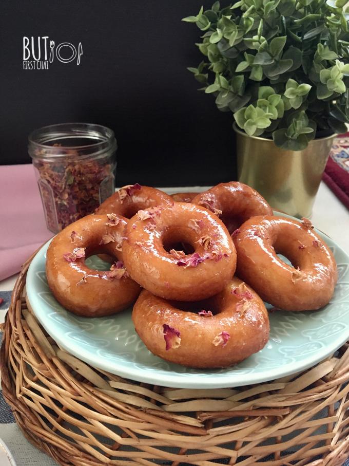 Yeast Doughnuts with Rose and Orange Blossom Glaze