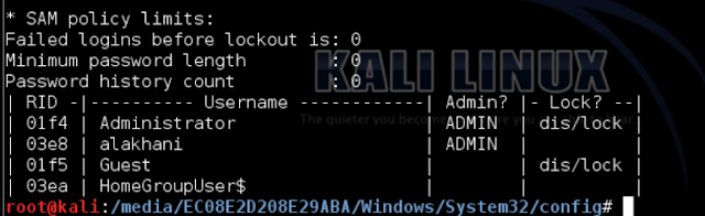 Kali for Hackers: How to reset Windows password with Kali Linux