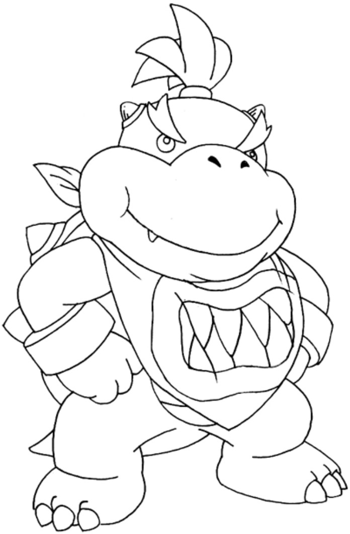 bowser super mario bros coloring pages