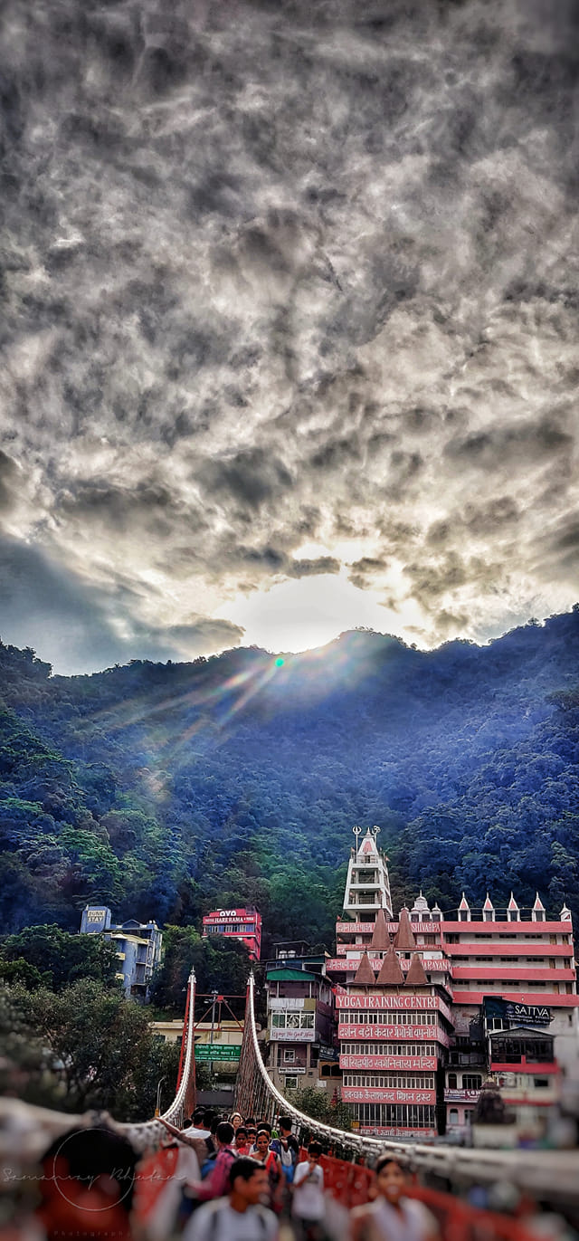 Stairway to heaven at Rishikesh