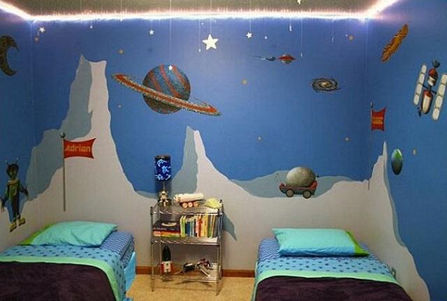 Dormitorios infantiles de universo - Murales para dormitorios infantiles ...