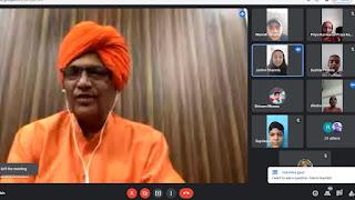 धर्म और राजनीति नहीं है एक-दूसरे के विरोधी सुमेधानंद सरस्वती सांसद सीकर