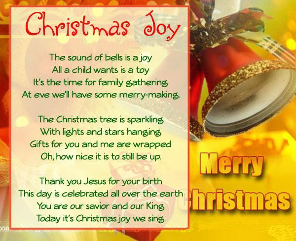 merry christmas poems for cards