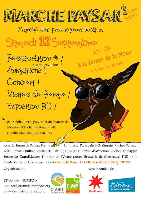 Sam 12 SEPTEMBRE/ MARCHE PAYSAN à la ferme de La Noue (La Celle les Bordes)