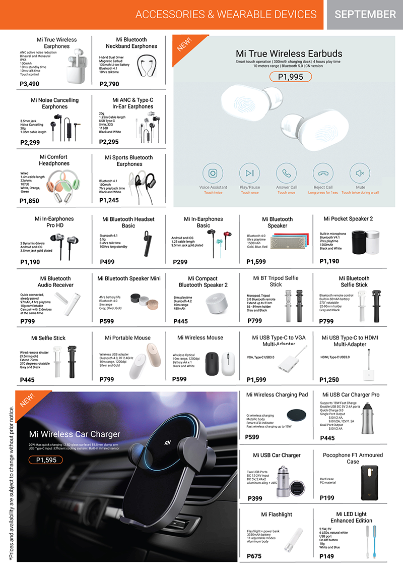Xiaomi Product Catalog Page 3