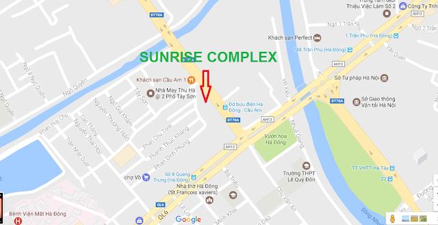 Vị trí dự án chung cư Sunrise Complex
