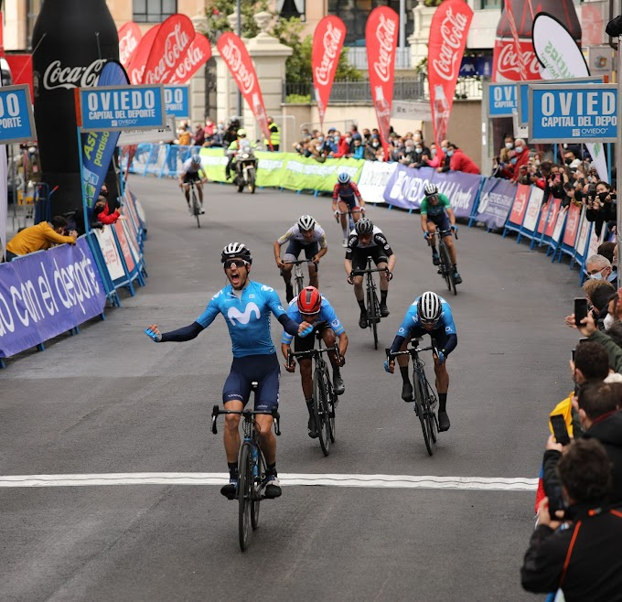 Héctor Carretero consiguió el triunfo en la segunda etapa de la Vuelta a Asturias 2021