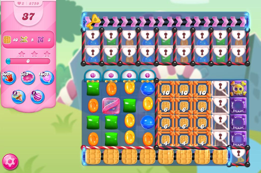 Candy Crush Saga level 8909