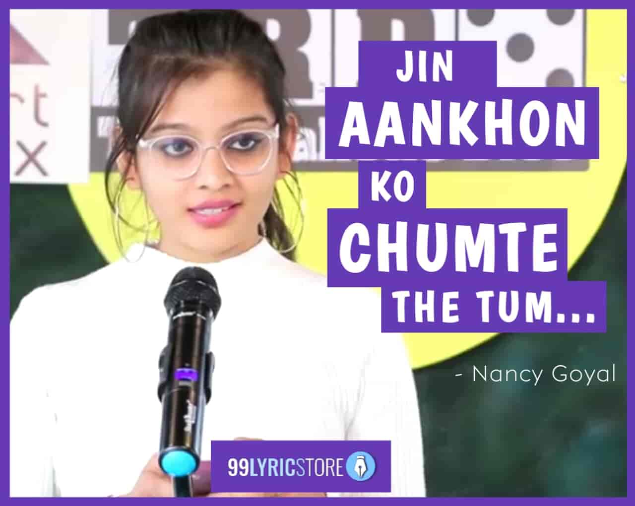 This beautiful love poem 'Jin Aankhon Ko Chumte The Tum' has written and performed by nancy goyal on the stage of The Realistic Dice.