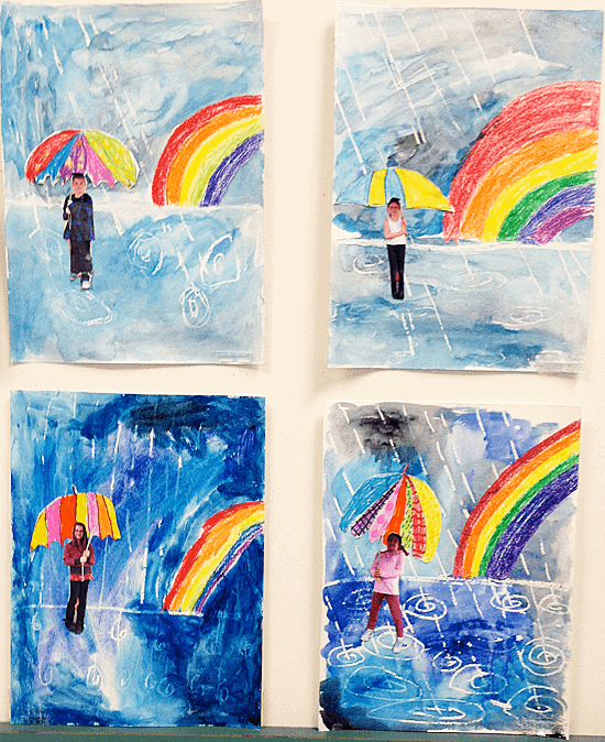 Beautiful spring art from my elementary school. Lots of inspiration for you!