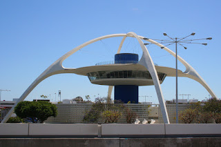 The Theme Building, an iconic landmark at Los Angeles International Airport