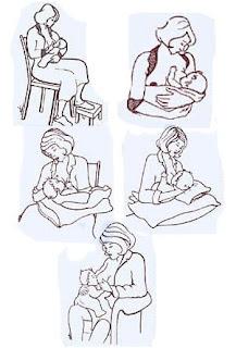 As posturas durante a amamentação