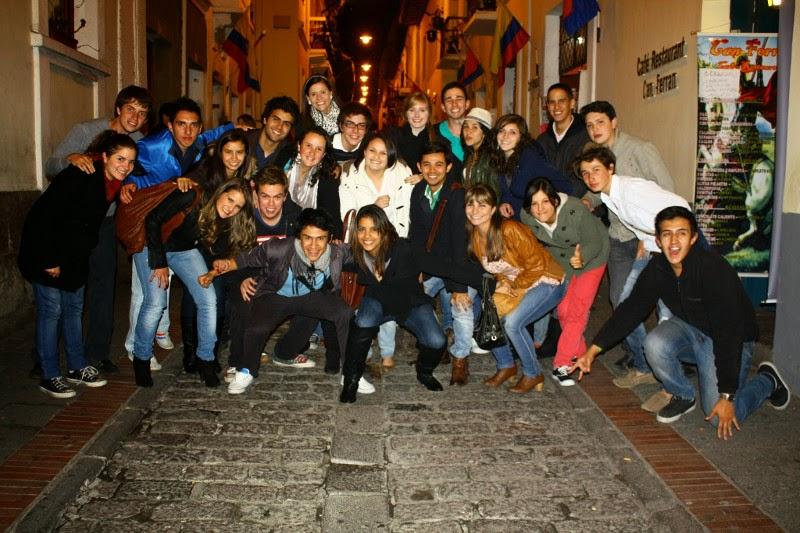 Visita de estudiantes de la Universidad de La Sabana a Quito, Ecuador, en 2011.