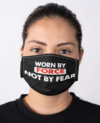 Worn By Force Not By Fear facemask face masks, Worn By Force Not By Fear face masks,