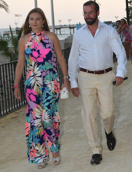 Grand Duke Henri and Grand Duchess Maria-Teresa, Hereditary Grand Duke Guillaume and Hereditary Grand Duchess Stephanie, Prince Felix and Princess Claire of Luxembourg