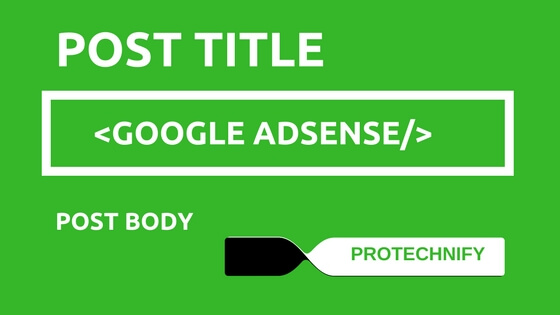Google Adsense Ad Below Post title in Blogger Blogspot