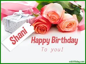 Happy Birthday Shani
