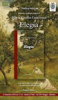 ELEGIA, SILLOGE POETICA Di MARIAGRAZIA GENOVESE