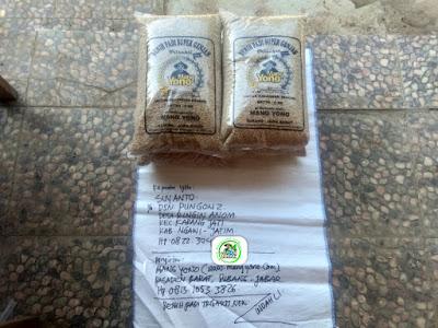Benih padi yang dibeli    SUYANTO Ngawi, Jatim.  (Sebelum packing karung ).