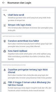 ganti password facebook di android