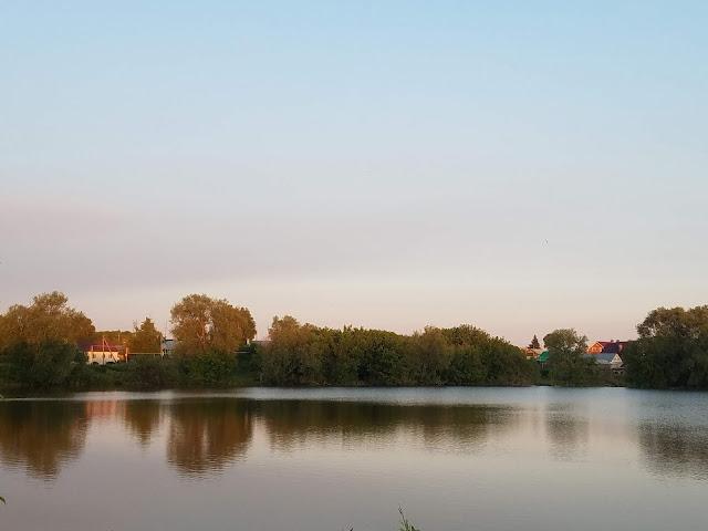 красота - озеро на закате дня, мои 92 дня лета